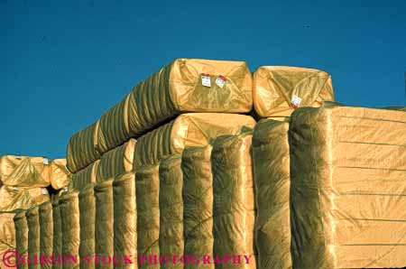 Stock Photo #6729: keywords -  agriculture angle bale baled bales block blocks california corner corners cotton crop crops farm farming farms horz package packaged packaging plastic process processing rectangle rectangular right ship shipping square stack stacked storage store synthetic