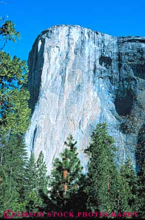 El Capitan Cliff Yosemite National Park California Stock