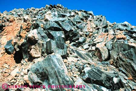 Stock Photo #7133: keywords -  black california deposit earth environment erupt erupted eruption flow flowed form formation geologic geological geology glass hard harden hardened horz hot lava molten mountain nature obsidian physical recent rock science sharp shiny strata stratum volcanic volcano