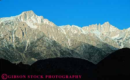 Stock Photo #7171: keywords -  alpine batholith california cliff crest eastern environment escarpment geologic geological geology granite horz landscape mount mountain mountains mt mt. nature outdoor peak peaks relief rock rugged scenery scenic sierra terrain uplift whitney wild wilderness