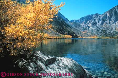 Stock Photo #7184: keywords -  alpine autumn batholith california color convict environment geologic geological geology granite horz lake landscape mountain mountains nature outdoor peak peaks relief rock rugged scenery scenic sierra terrain uplift wild wilderness