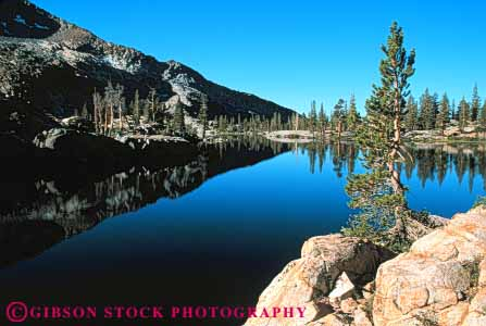 Stock Photo #7187: keywords -  alpine batholith california clean environment geologic geological geology granite horz lake landscape mountain national nature ottoway outdoor park peak peaks pristine pure reflection relief rock rugged scenery scenic terrain uplift water wild wilderness yosemite