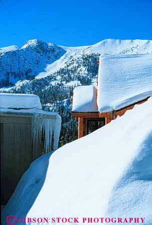 Stock Photo #7235: keywords -  buried bury california climate climatology cold freeze freezing frozen home homes house houses ice icy lakes log mammoth nature precipitation residence residential resort season snow vert weather winter