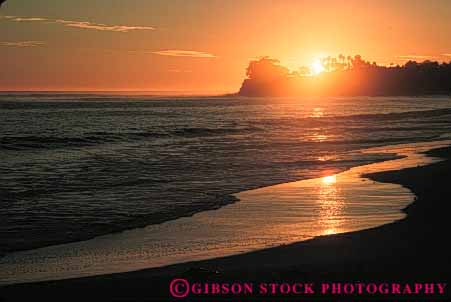Stock Photo #7278: keywords -  barbara beach california coast coastal dawn dusk horz landscape mood moody nature sand santa scenery scenic sun sunrise sunset surf warm water
