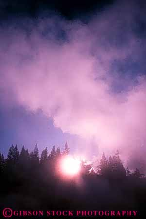 Stock Photo #7401: keywords -  abstract abstraction abstracts basin bright burst celestial cloud clouds fog foggy forest geysers light mist misty mood moody national norris park pink sky solar star steam sun sunny sunshine tree trees vapor vert wyoming yellowstone