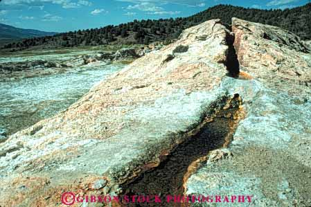 Stock Photo #7409: keywords -  accumulate accumulated accumulating accumulation bridgeport buildup calcium california carbonate creek deposit deposited deposition deposits earth environment form formation geologic geological geology geothermal horz hot layer layers mineral minerals nature physical science spring steaming stream travertine volcanic volcano water