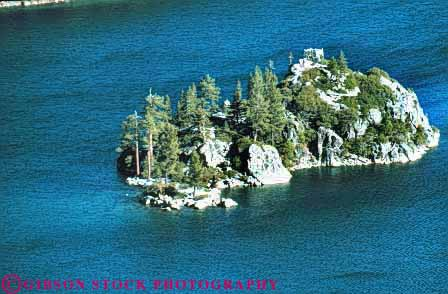 Stock Photo #7455: keywords -  alone bay california emerald environment getaway horz island islands isolate isolated lake land landscape lonely nature privacy private remote scenery scenic solitary solitude surround surrounded tahoe water