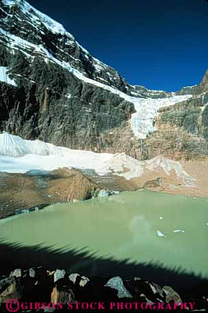 Stock Photo #7478: keywords -  alberta and angel canada climate cold desolate desolation environment freeze freezing frozen glacial glacier glaciers habitat ice icy jasper landscape mountain mountains national nature park remote scenery scenic snow tarn vert weather wilderness winter