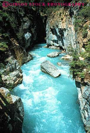 Marble Canyon Kootenay National Park Alberta Canada Stock
