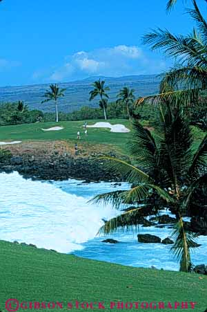 Stock Photo #5558: keywords -  challenge club coast country course golf golfer golfers golfing grass green hawaii hi hole island kea landscape lawn mauna ocean outdoor outdoors outside palm practice recreation resort scenic shore skill sport summer surf three tough travel tree vacation vert water wave