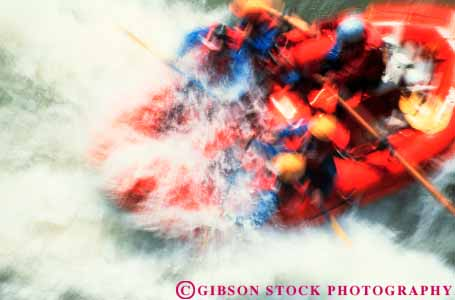 Stock Photo #3547: keywords -  action adventure blur boat california challenge control cooperate current dangerous dynamic horz motion movement oar outdoor raft rapid risk river rough row salmon speed splash sport sports steer team thrill vigorous water wet white