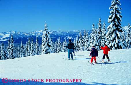 Stock Photo #5700: keywords -  boy boys california children cold downhill gravity horz mt outdoor outdoors outside parent recreation resort season shasta ski skier skiers skiing snow sport sports travel vacation winter