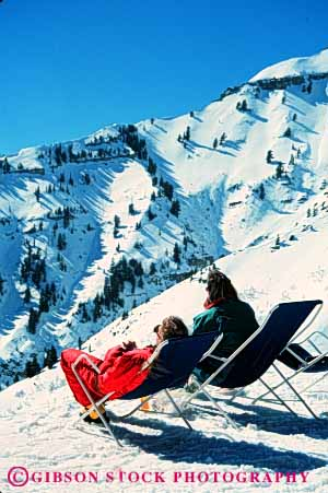 Stock Photo #5711: keywords -  chair chairs cold couple downhill enjoy equipment outdoor outdoors outside portrait pose quiet recreation relax resort rest scene scenic season ski skier skiers skiing slope snow sport sports sun sundance sunny sunshine travel trip utah vacation vert view winter