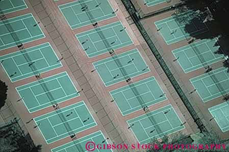 Stock Photo #5826: keywords -  aerial court courts horz outdoors outside play racket racquet summer tennis