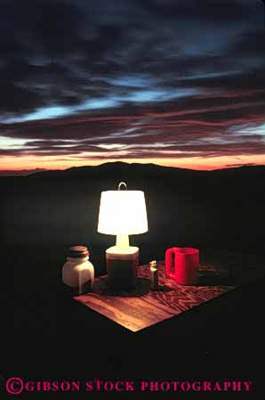 Stock Photo #5890: keywords -  adventure camp camper camping dark dusk explore lamp lantern light outdoor outdoors outside recreation sport summer sunset travel trip vacation vert