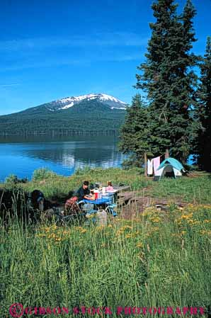 Stock Photo #5896: keywords -  adventure alone calm camp camper camping couple diamond explore lake morning oregon outdoor outdoors outside peaceful private quiet recreation serene solitary solitude sport summer tent travel trip vacation vert water