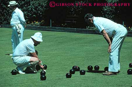 Stock Photo #5907: keywords -  active aim ball balls bowl bowling california citizen elderly francisco grass horz lawn mature measure men old outdoor outdoors outside recreation roll san senior seniors skill smooth sport summer team uniform white