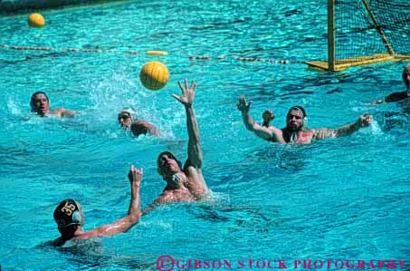Stock Photo #5917: keywords -  athletes ball challenge compete competing competition competitor contest horz meet men move movement polo pool sport sports summer swim swimmer swimmers swimming team throw training water