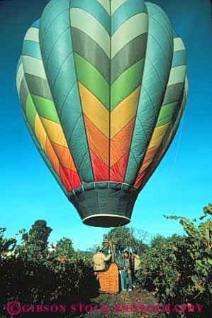Stock Photo #5995: keywords -  air balloon ballooning california calm color colorful down drift elevate elevated equilibrium float fly flyer flying glide gravity heat hot lift lifting napa overhead peaceful quiet ride rise rising solitary solitude touch valley vert view vineyard your