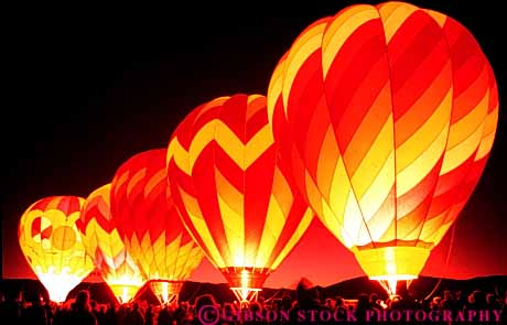 Stock Photo #3537: keywords -  air balloons bright california cooperate dawn flame group heat horz hot liftoff light night patrol propane rise sports summer team yreka