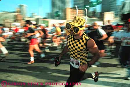 Stock Photo #6202: keywords -  action bay bizarre blur blurred breakers ca california compete competing competition competitor contest costume costumed cute different foot francisco funny horz motion move movement moving people race racers racing run runners running runs san unusual