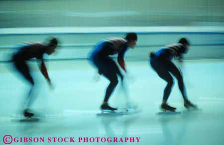 Stock Photo #6245: keywords -  action balance blur blurred cold dynamic exercise fit fitness fun glide group horz ice motion move movement moving physical physically play posture practice race racers racing recreation rink skate skater skates skating slide speed sport sports three winter