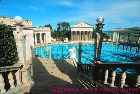 Outdoor pool hearst castle state park san simion for Roman style pool design