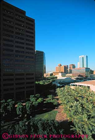 Stock Photo #7483: keywords -  america american architecture arizona building buildings business center cities city cityscape cityscapes downtown modern new office phoenix skyline skylines southwest urban usa vert west