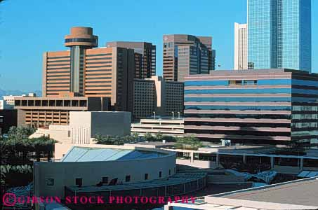 Stock Photo #7485: keywords -  america american architecture arizona building buildings business center cities city cityscape cityscapes downtown horz modern new office phoenix skyline skylines southwest urban usa wzest
