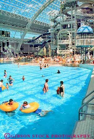 People Swimming At World Waterpark West Edmonton Mall Alberta Canada Stock Photo 18703
