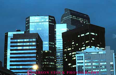 Stock Photo #7507: keywords -  america american architecture building buildings business center cities city cityscape cityscapes colorado dark denver downtown evening horz light lighting lights modern new night office skyline skylines urban usa window windows