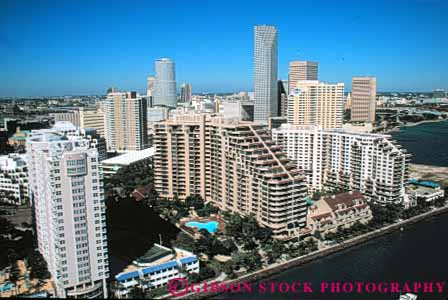 Stock Photo #7511: keywords -  aerial aerials america american architecture building buildings business center cities city cityscape cityscapes coast coastal downtown florida horz marine miami modern new ocean office seashore shore shoreline skyline skylines urban usa