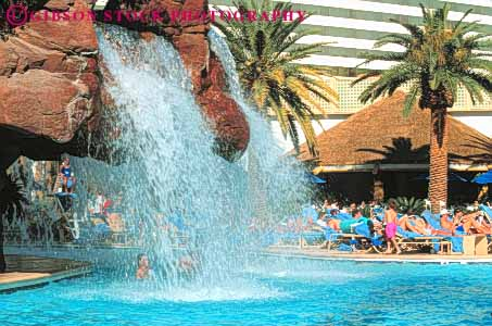 Hotel pool with people  people swimming pool Mirage Hotel Las Vegas Nevada Stock Photo 8155
