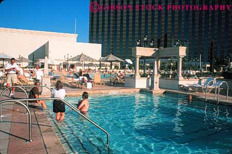 Hotel pool with people  people swimming pool Venetian Hotel Las Vegas Nevada Stock Photo 8158