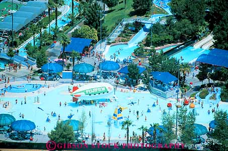 elevated view pool Wet n Wild water park Las Vegas Nevada