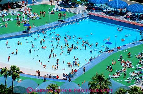 Elevated view pool wet n wild water park las vegas nevada - Public swimming pools north las vegas ...