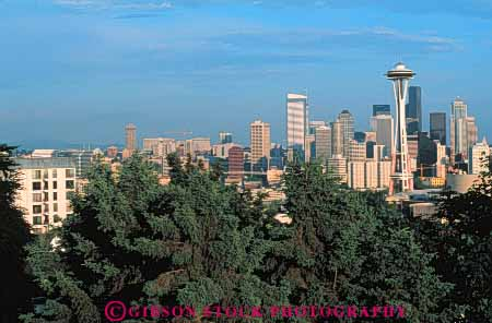 Stock Photo #7543: keywords -  america american architecture building buildings business center cities city cityscape cityscapes downtown horz modern new office seattle skyline skylines urban usa washington west