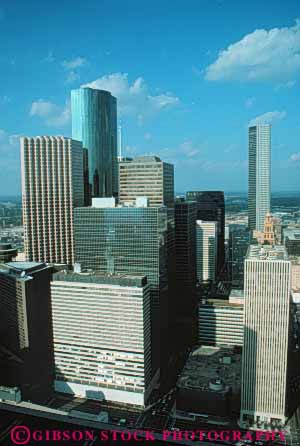 Stock Photo #7557: keywords -  america american architecture building buildings business center cities city cityscape cityscapes downtown houston modern new office skyline skylines texas urban usa vert west