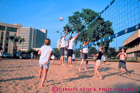 Young People Playing Volleyball At Aussies Volleybar Austin Texas Stock Photo 17379