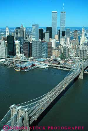 Stock Photo #7562: keywords -  aerial america american architecture bridge brooklyn building buildings business center cities city cityscape cityscapes downtown modern new office river skyline skylines urban usa vert water york