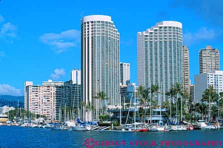 Stock Photo #7578: keywords -  america american apartment architecture beach building buildings business center cities city cityscape cityscapes coast coastal condo condominium condos destination downtown hawaii horz island modern new oahu ocean office resort sea shore shoreline skyline skylines travel tropical urban usa vacation waikiki