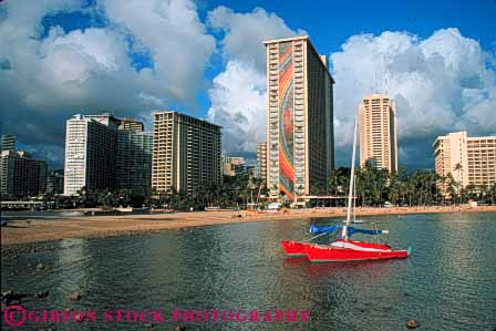 Stock Photo #7579: keywords -  america american architecture beach building buildings business center cities city cityscape cityscapes coast coastal destination downtown hawaii horz island modern new oahu ocean office resort sea shore shoreline skyline skylines travel tropical urban usa vacation waikiki
