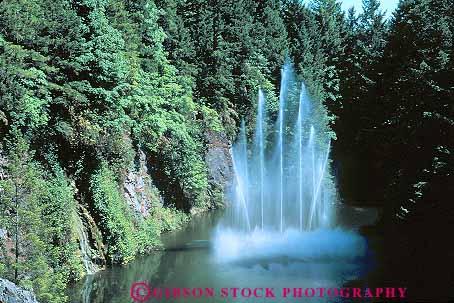 Rose Fountain Butchart Gardens Victoria British Columbia Canada Stock Photo 13462