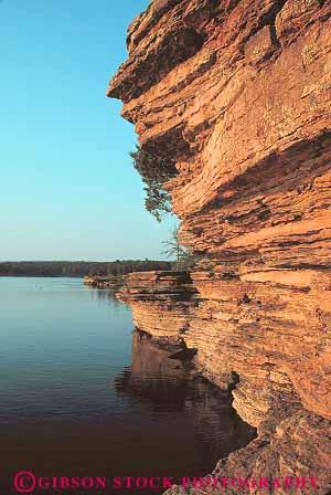 Sandstone Cliffs Dusk Greers Ferry Lake Arkansas Stock