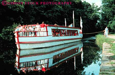 Stock Photo #3387: keywords -  boat canal coshocton historic history horz living ohio roscoe tour village