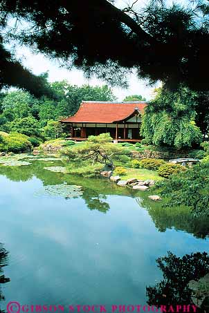 Japanese House And Garden Fairmount Park Philadelphia Pennsylvania Stock Photo 11193