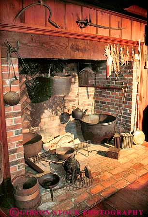 interior fireplace historic Indian House Deerfield ...