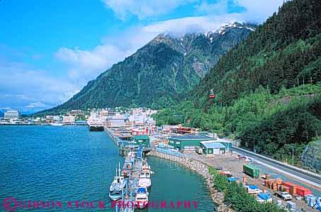 overview landlocked Juneau Alaska Stock Photo 10426
