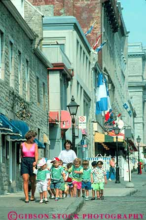 teachers walking preschool group in Place Jacques Cartier ...