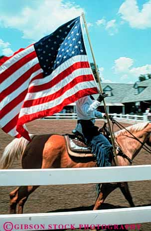 Stock Photo #3523: keywords -  american americana and banner blue display flag horseback kentucky lexington motion national patriot patriotism red spangled spirit star states symbol united unity vert wave white